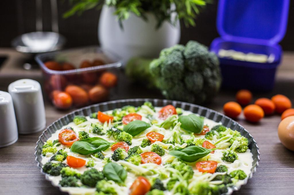 Fresh & Healthy Fitness Broccoli Pie with Basil