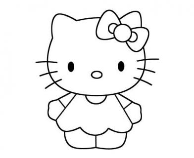 hello kitty简笔画