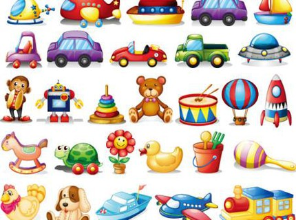 Children's toys Icon vector set